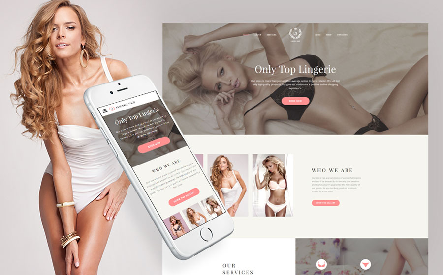 Lingerie Website Template