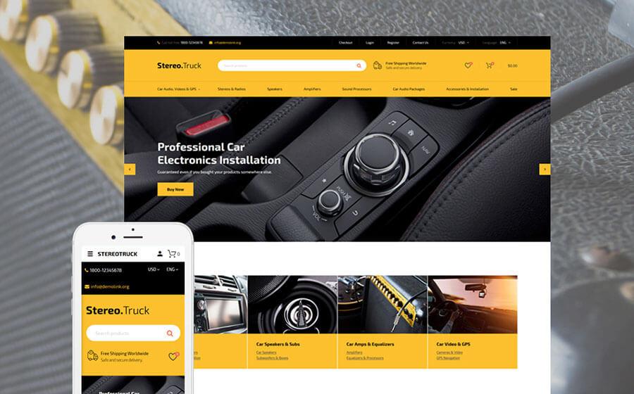 Car Audio Store OpenCart Template