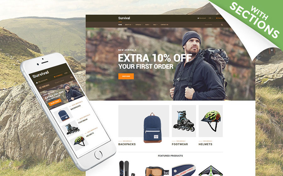 Travel Equipment Shopify Theme