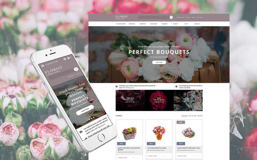 Flower Shop OpenCart Template