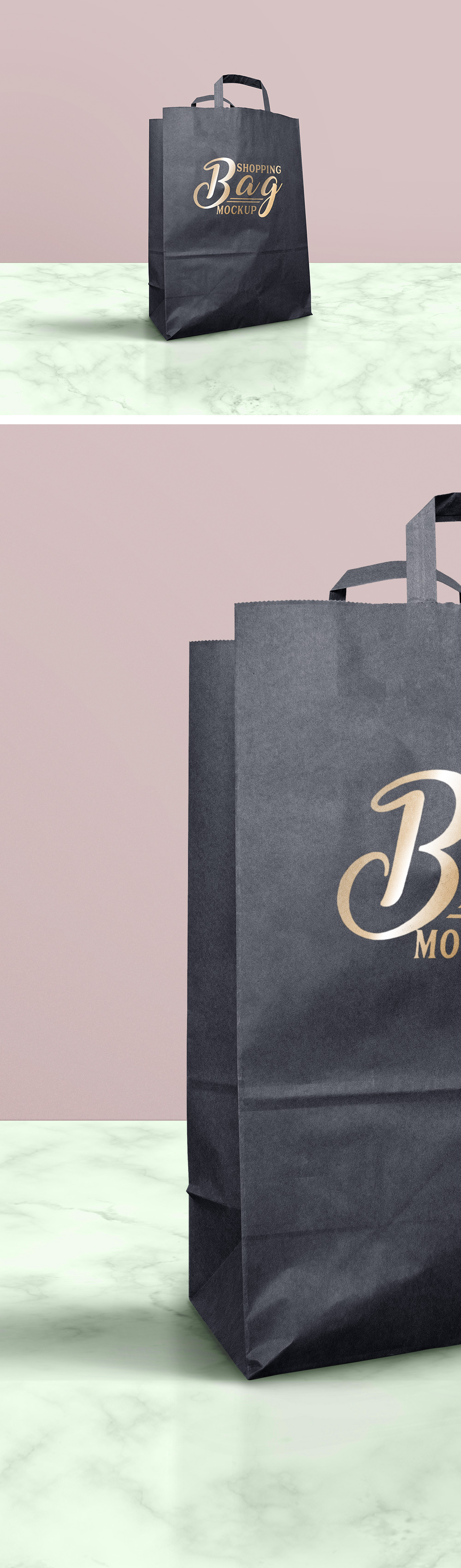 Dark Shopping Bag Mockup
