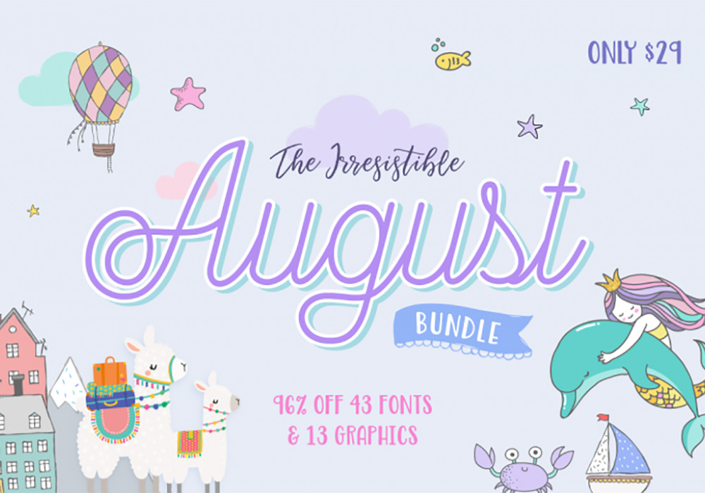 The Irresistible August Design Bundle