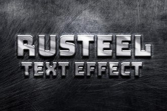 Rusteel PSD Text Effect