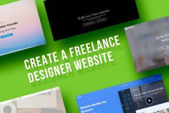 Create Freelance Designer Website