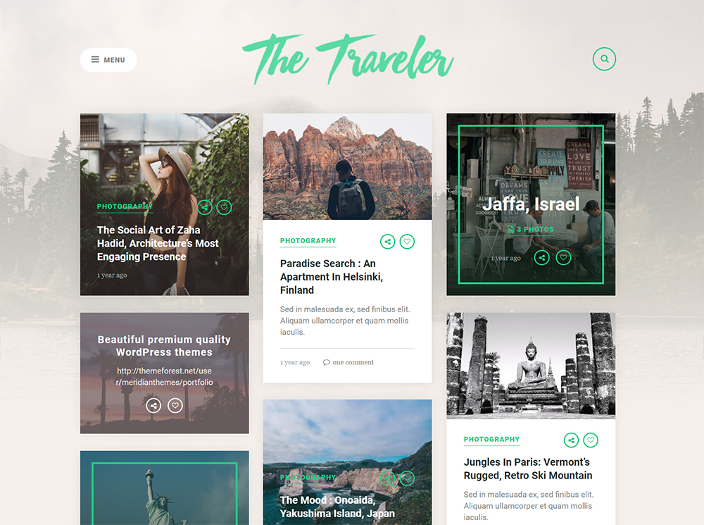 Traveler WordPress Theme