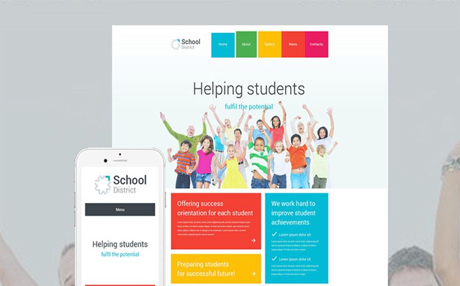 School District WordPress Theme