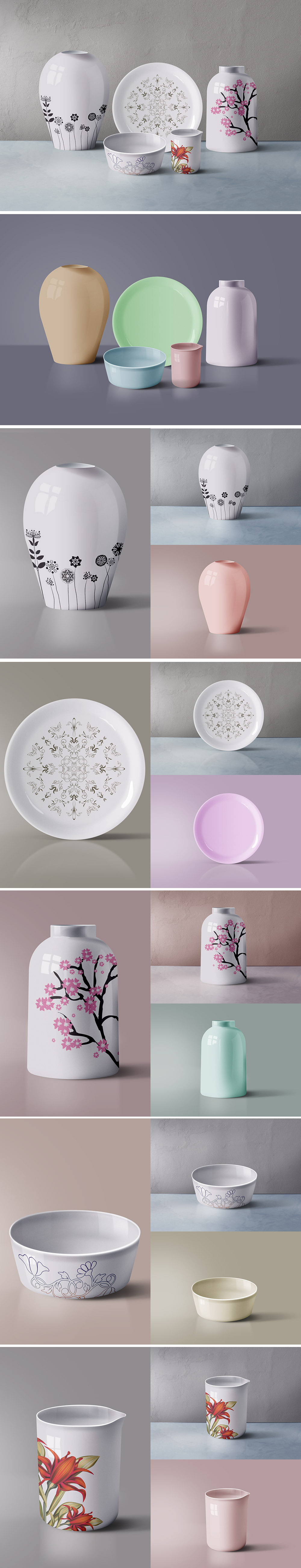 Ceramic Tableware Mockup
