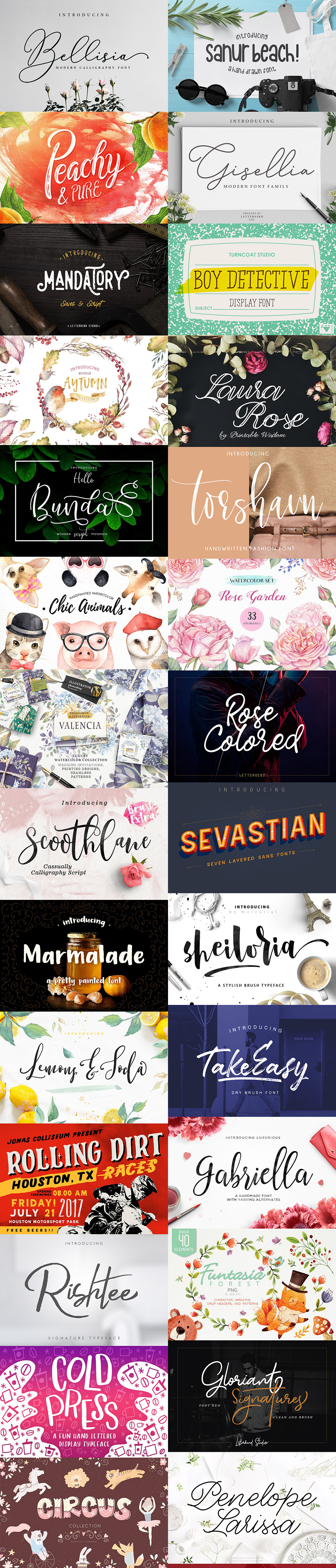 September Fonts & Graphics Bundle