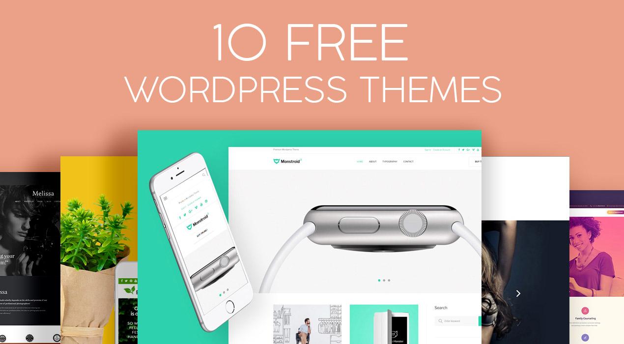 10 Beautiful & Absolutely Free WordPress Themes