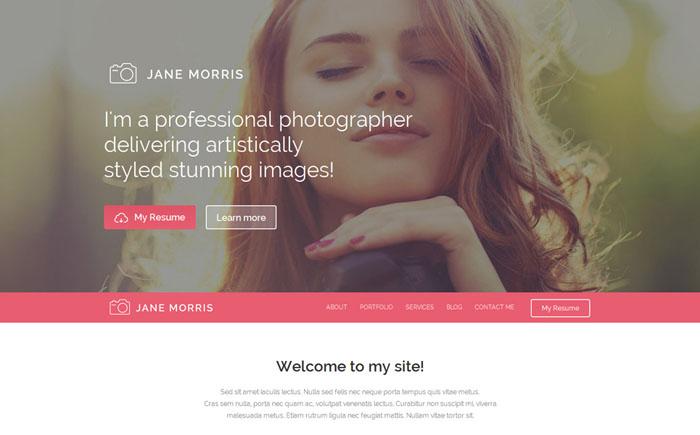 Free WP Theme for Photographer Portfolio