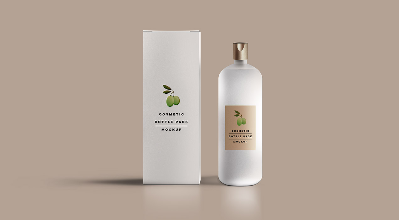 Cosmetic Bottle Packaging Mockup