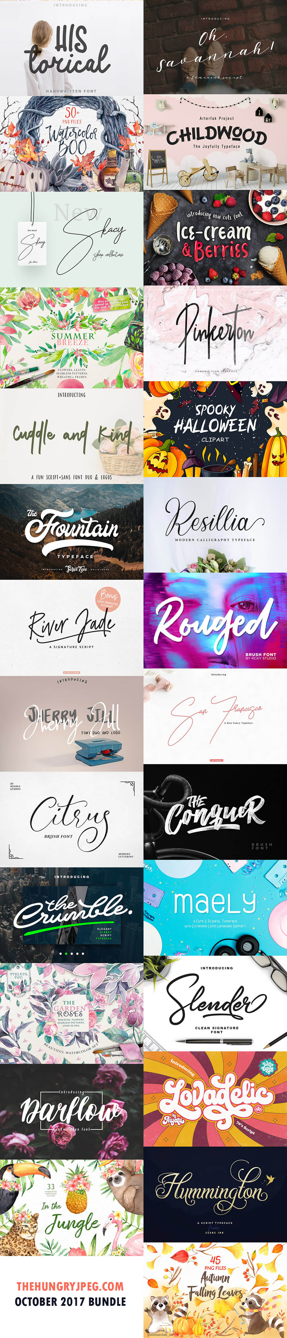 October Fonts & Design Bundle