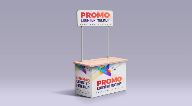 Promotion Counter Mockup PSD