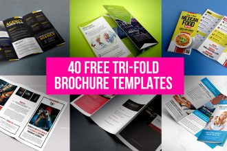 40 Free Professional Tri-fold Brochures for Business