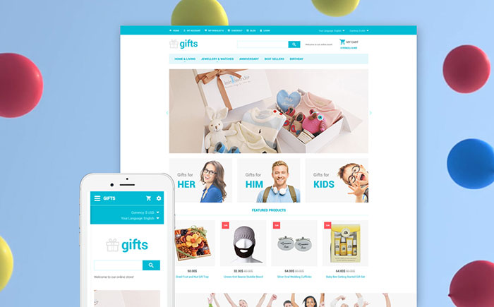 Gift Store OpenCart Template