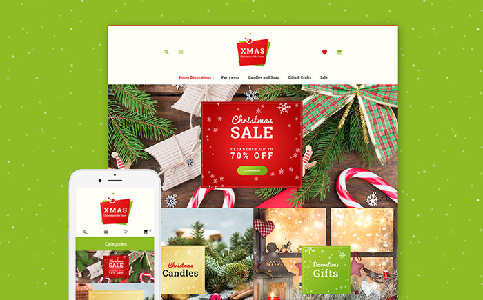 Christmas Gifts Store Responsive Magento Theme