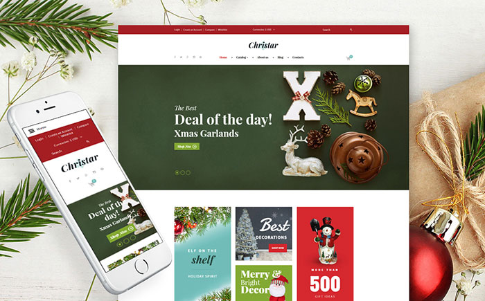 Christmas Responsive VirtueMart Template