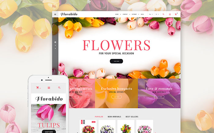 Bouquets & Floral Arrangement PrestaShop Theme