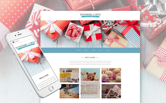 Crafts Blog and Gift Store Joomla Template
