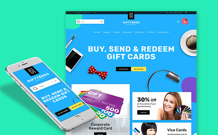 Gift Cards PrestaShop Theme