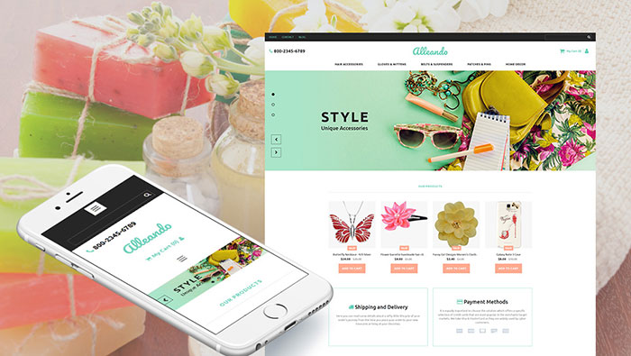Gifts Store Responsive MotoCMS Ecommerce Template