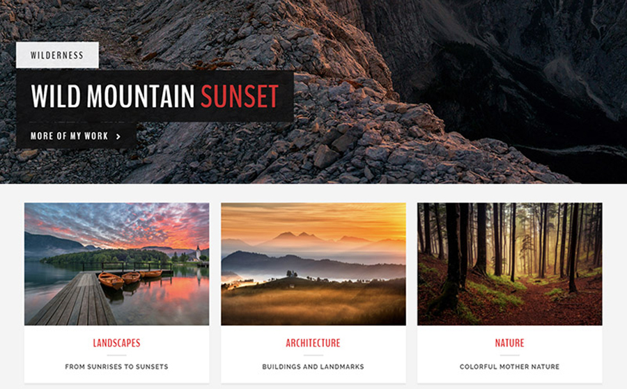 Landscape - A Photography WordPress Theme