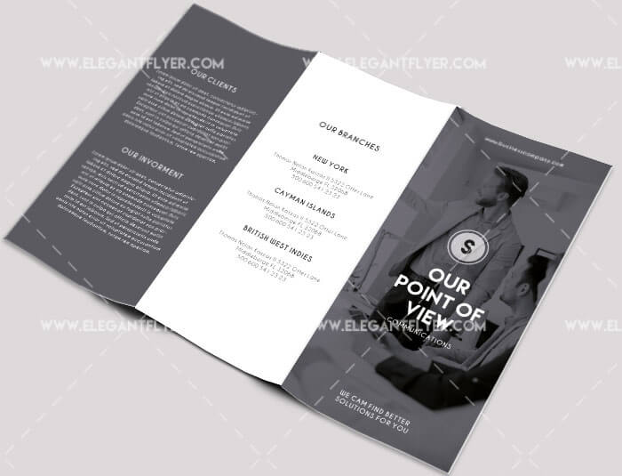Free Professional Trifold Brochures For Business GraphicsFuel - Psd brochure template