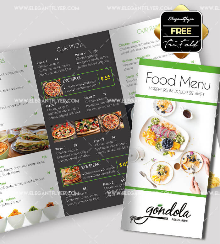 Restaurant Food Brochures Peellandfmtk - Food brochure templates