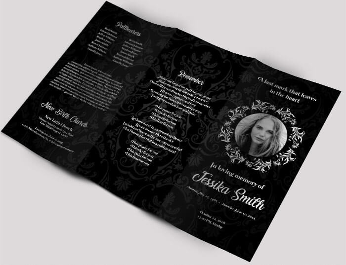Free Professional Trifold Brochures For Business GraphicsFuel - Funeral brochure templates free