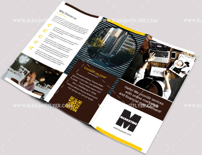 40 free professional tri fold brochures for business graphicsfuel 15 marketing free tri fold business brochure psd template wajeb Images