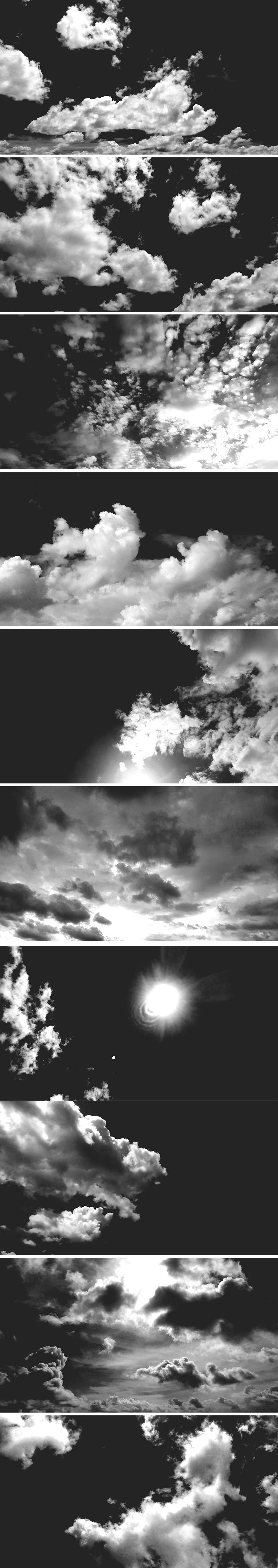 Free Black & White Skies