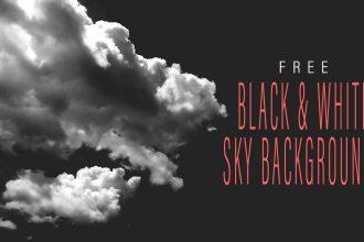 Black & White Sky Backgrounds