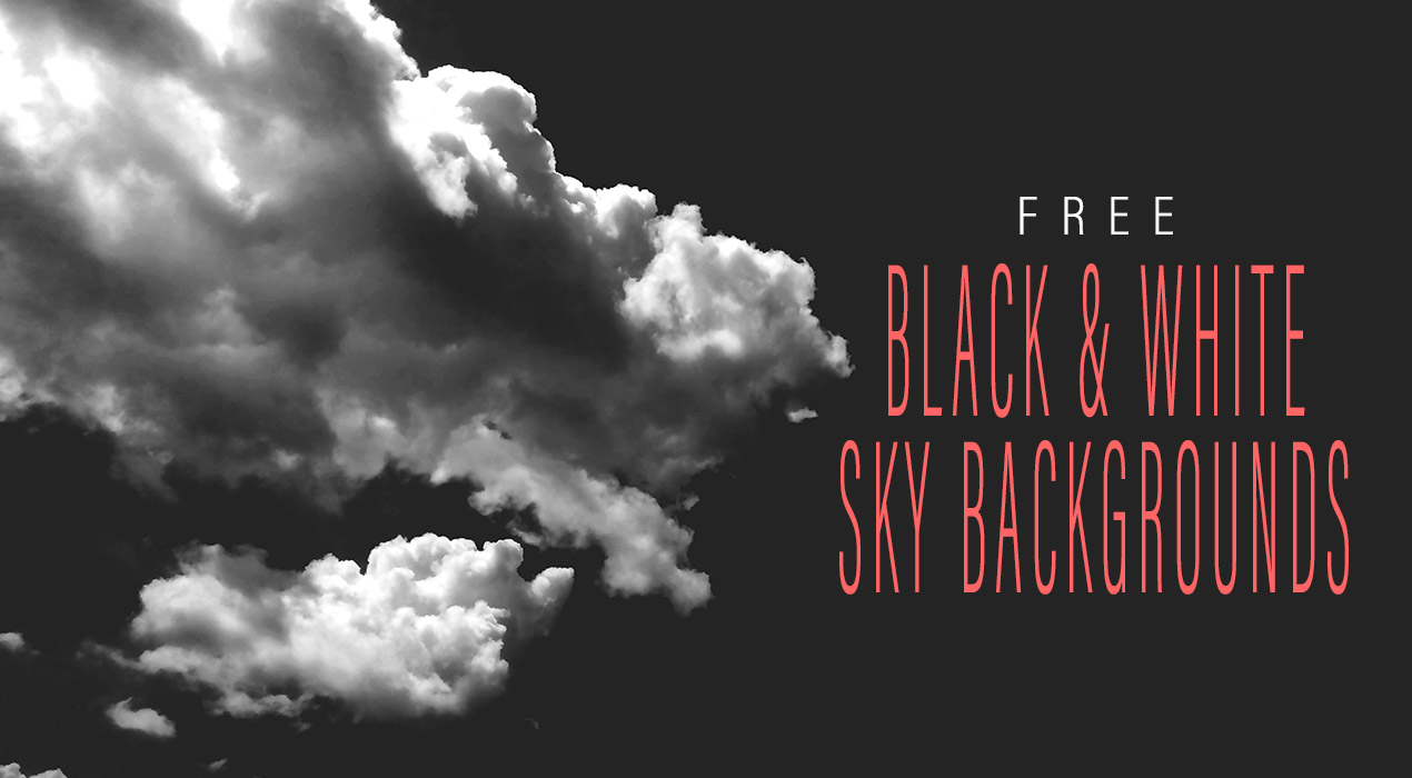 Black & White Sky Backgrounds