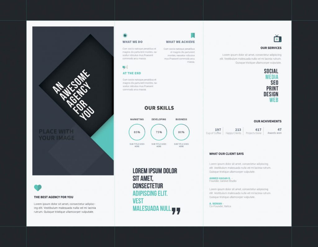 40 free professional tri fold brochures for business for Professional brochure templates free