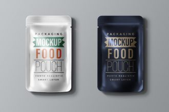 Food Packaging Pouch Mockup