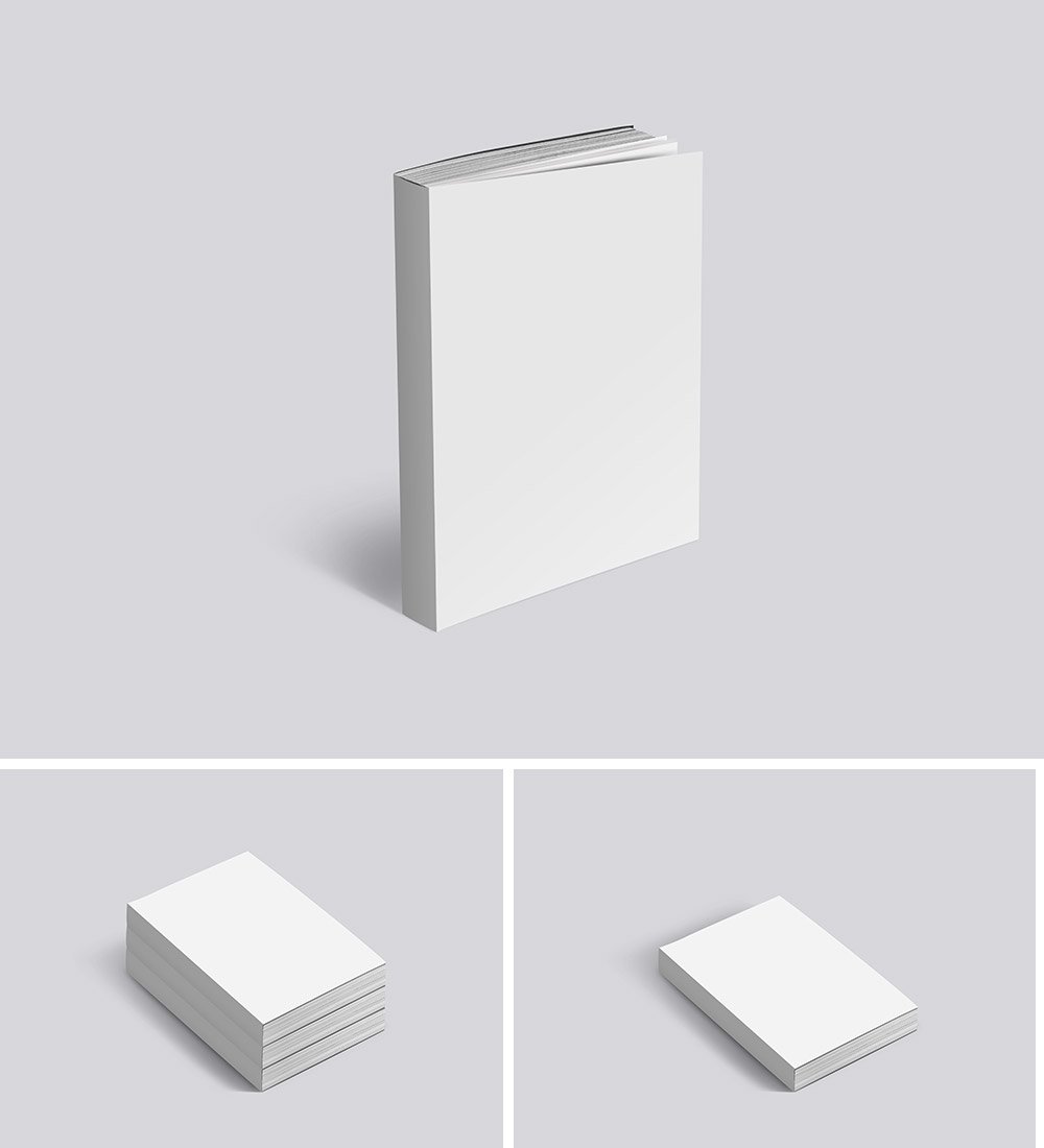 Paperback Mockup Templates