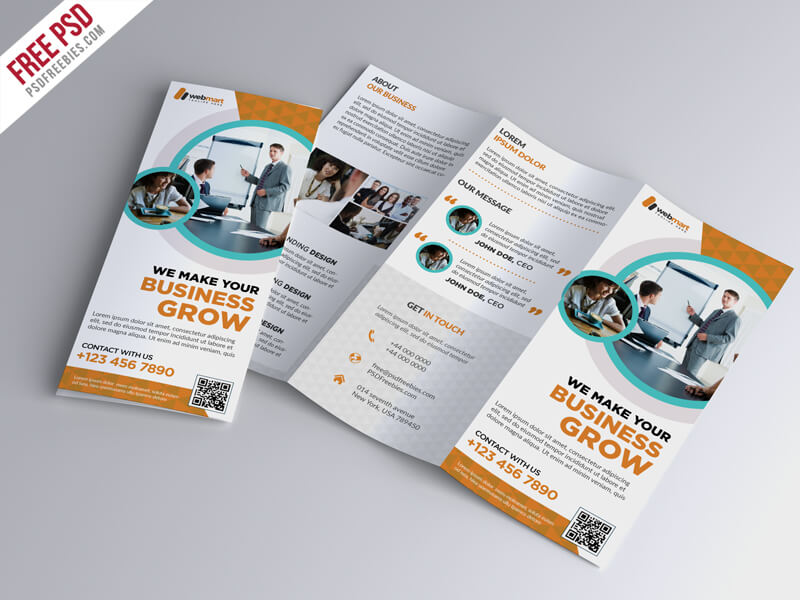 20 tri fold brochure template free psd - Folding Brochure Template Free