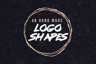 Hand Drawn Vector Grunge Logo Shapes