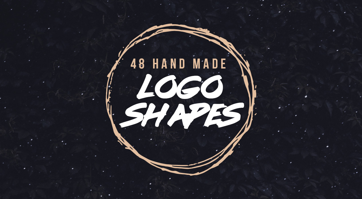 Hand Drawn Vector Grunge Logo Shapes