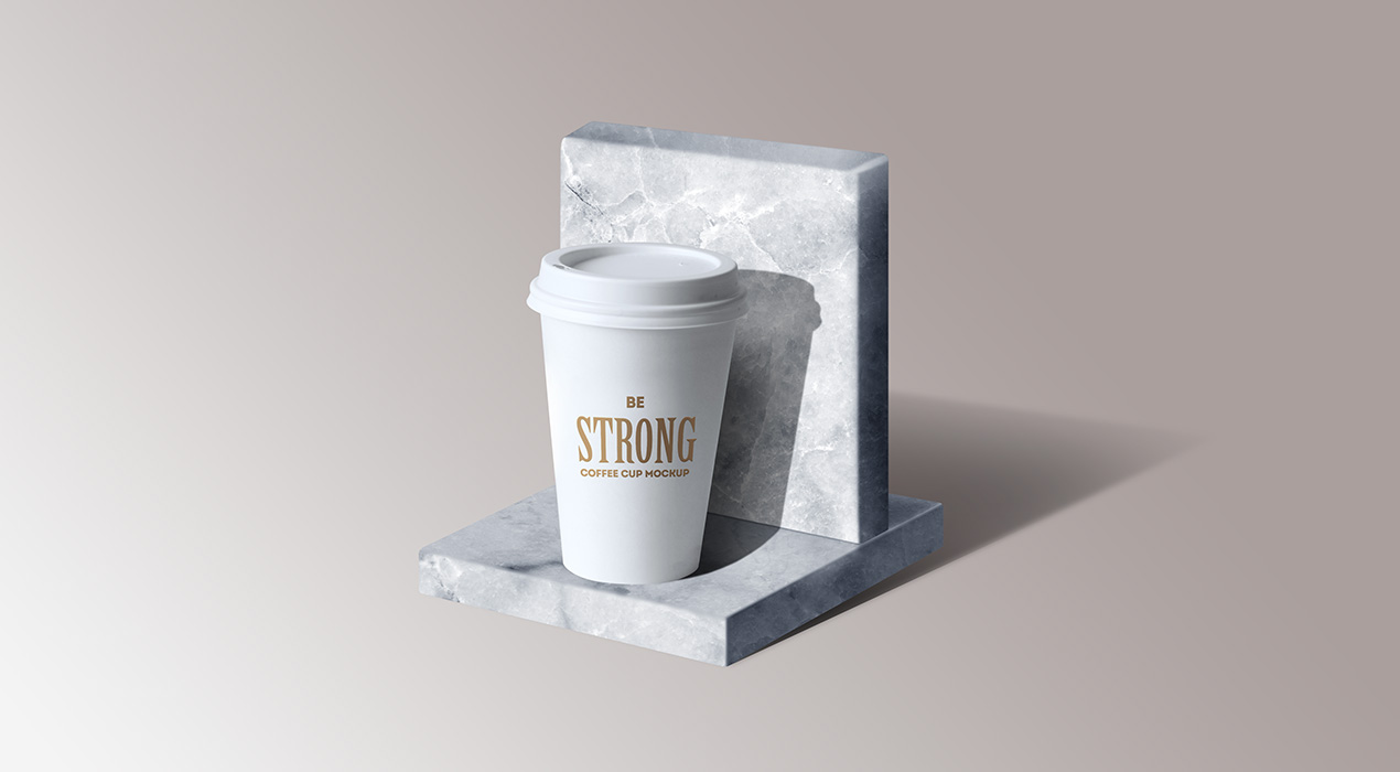 Marble Stone Stand Mockup