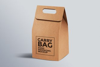 Cardboard Paper Carry Bag Mockup