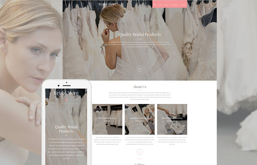 Wedding Shop Responsive Moto CMS 3 Template