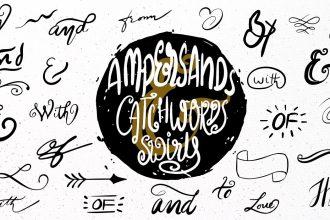 175 Hand-drawn Vector Catchwords, Ampersands And Swirls