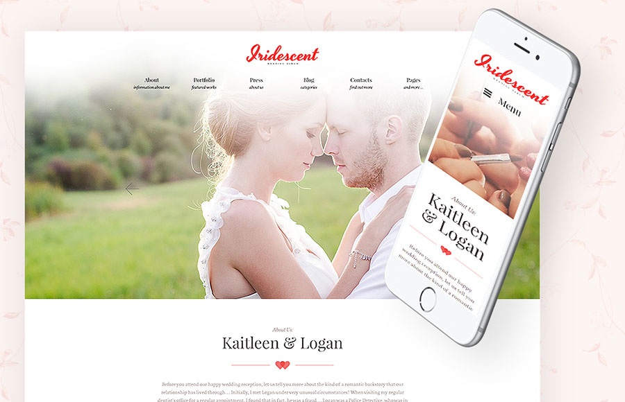 Iridescent - Wedding Album Lite Free WordPress Theme