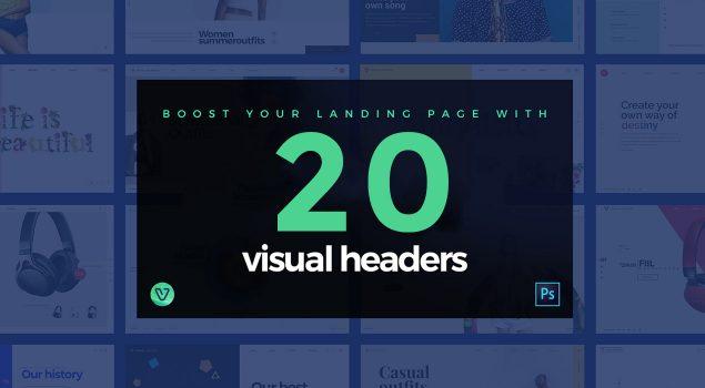 20 Visual Website Headers