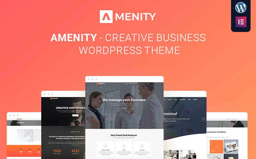 Amenity - Business One Page WordPress Theme