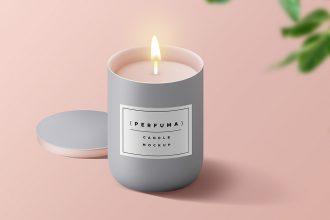 Candle PSD Mockup