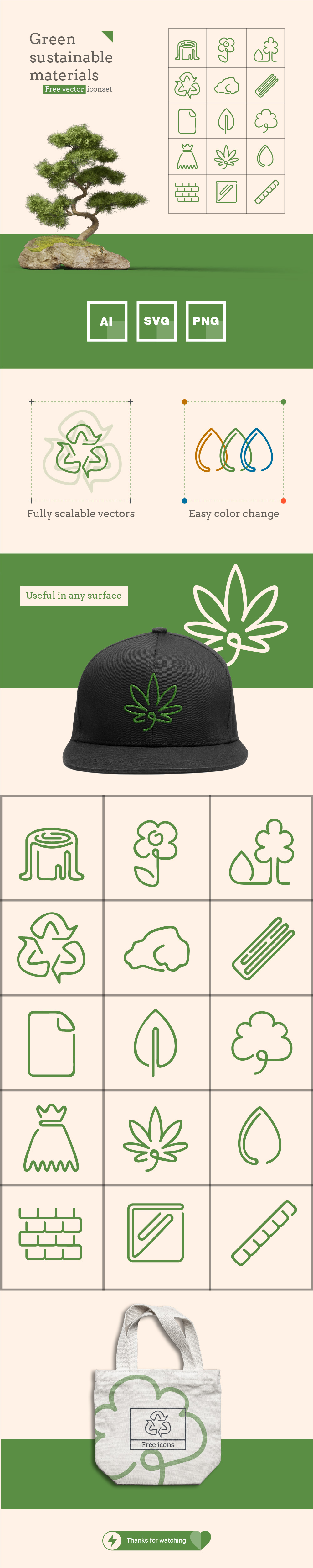Green Sustainable Icons