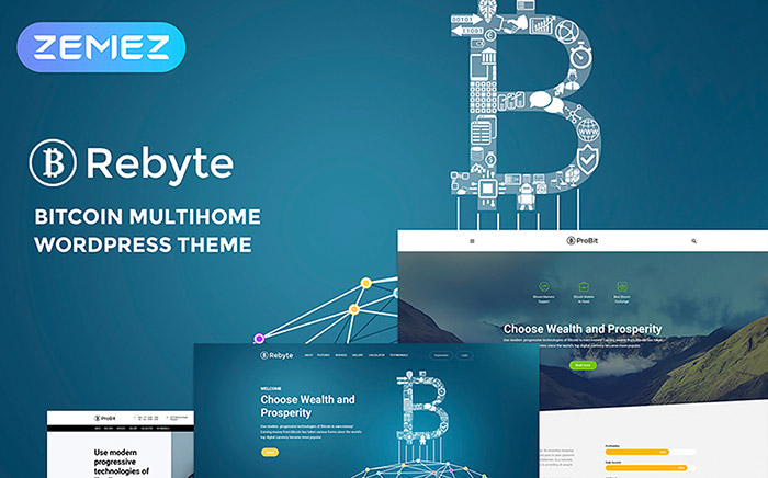 Rebyte Bitcoin Templates WordPress Theme