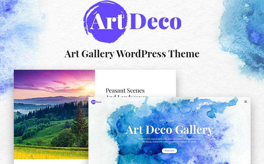 Art Deco - Gallery Art Gallery WordPress Theme